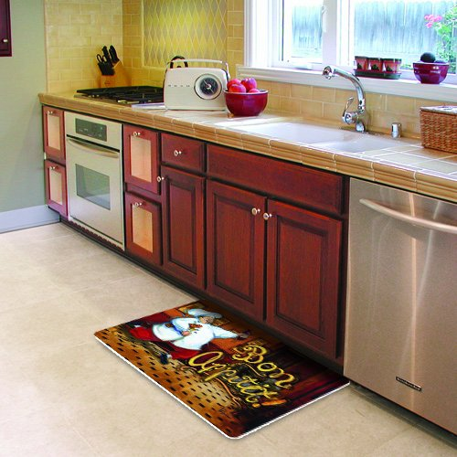 Fat Chef Kitchen Rugs: NEW Cushion Comfort Running Chef Kitchen Mat 18 Inch By 30