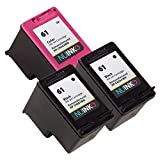 NUINKO 3 Pack Remanufactured HP 61 Ink Cartridge Black and Color CH561WN CH562WN for HP ENVY 4500 5530 4502 Deskjet 2050 3050 2540 1050 1510 1000 1010 3050A 2542 2544 OfficeJet 4630 2620 Printers