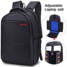 Lapacker 15.6 17 inch Water Resistant Lightweight Slim Backpack Laptop in Black Bags Bussiness Notebook Computer Backpacks for Men Laptops