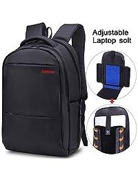 Tigernu Unisex Slim Waterproof Laptop Backpack (Black)