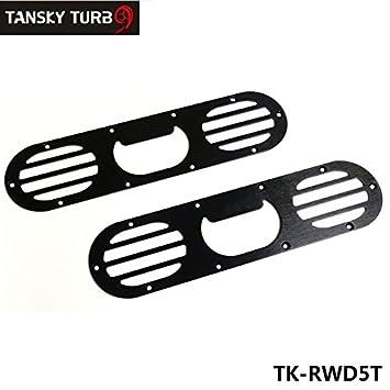 2pcs aluminio parachoques trasero Carrera aire difusor de desviación Gunmetal para Honda Civic tk-rwd5t: Amazon.es: Coche y moto