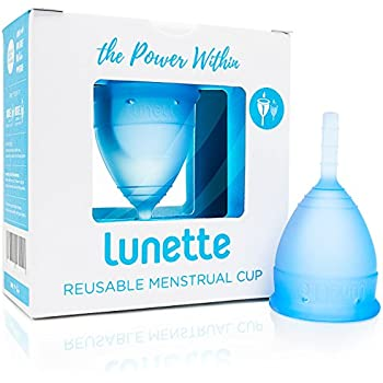 Lunette Reusable Menstrual Cup - Blue - Model 1 for Light Flow - Your Vagina's New Best Friend