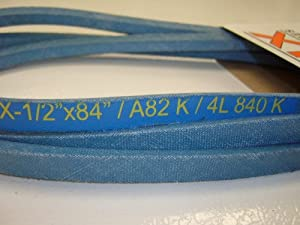 """1/2"""" X 84"""" Blue Kevlar Belt, Use To Replace Craftsman Poulan Husqvarna 140218; Simplicity 1717932, 1656960, Toro 88-6280; and Many More by Pix"""