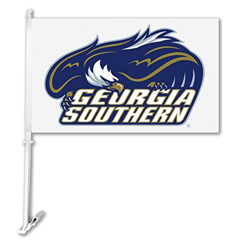 BSI NCAA Georgia Southern Eagles Car Flag Logo with White Background with Free Wall Brackett by BSI