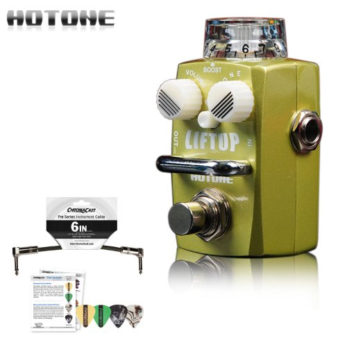 Hotone Skyline Liftup Clean Boost Analog Micro Guitar Pedal Stompbox w/ Picks & Patch Cable by GoDpsMusic