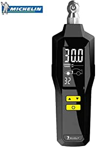Michelin Programmable Tyre Gauge with Built-in Flash Light and Backlight LCD Screen, Ranges from 5-99 PSI with Accuracy to /- 1% (12294)