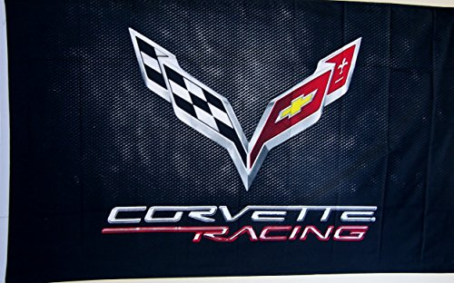 Corvette Black C-7 Car Flag 3' X 5' Indoor Outdoor Auto Banner