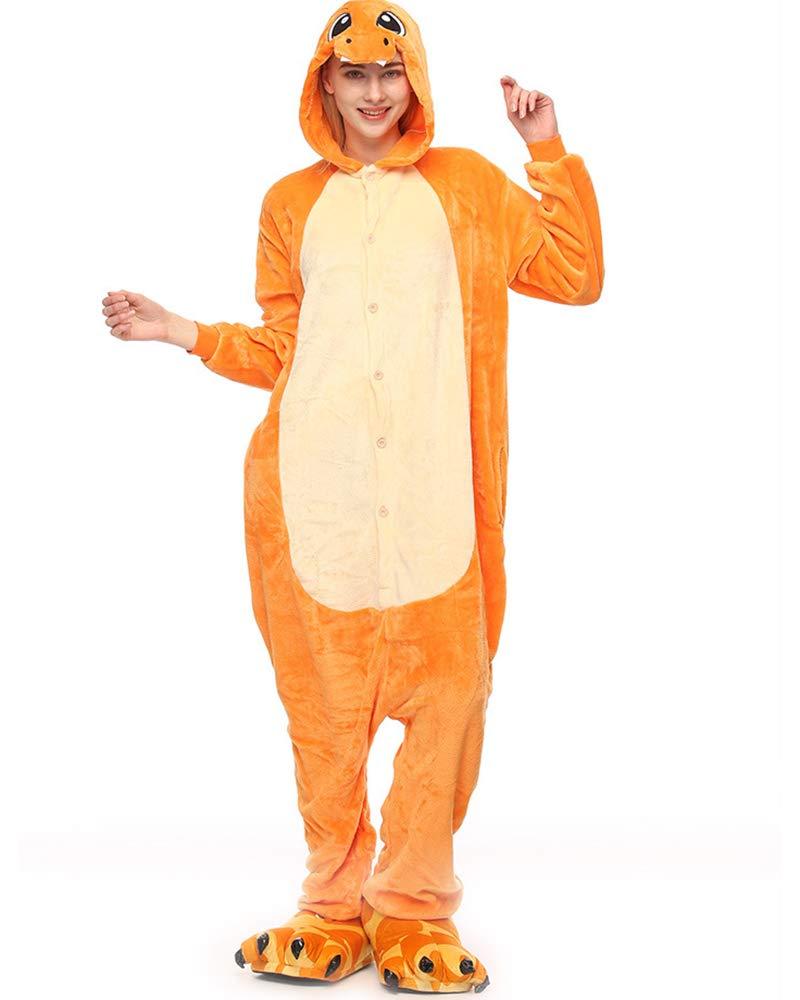 Moollyfox Kigurumi Pigiama Unisex Costume Party Halloween Flanella Sleepwear