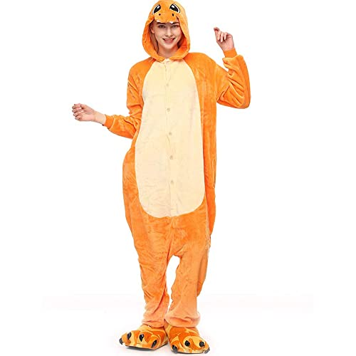 Molly Kigurumi Pijamas Traje Disfraz Animal Adulto Animal Pyjamas Cosplay Homewear XL Amarillo Dragón