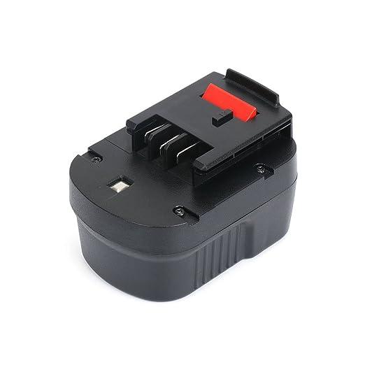 A12 Black + Decker Batería 12V, REEXBON 12V 3000mAh Batería para A12-XJ A12EX A1712 HPB12 FS120B FS120BX FSB12 B-8315 BD-1204L BD1204L BPT1047, ...