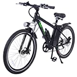 Goplus 26'' 250W Electric Bicycle Sports Mountain Bike Variable Speed 36V Lithium Battery w/Cup Holder