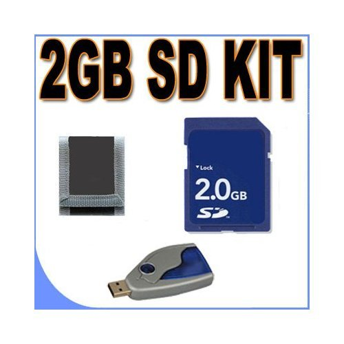 2GB SD (Micro SD With SD Adapter) Memory Card Secure Digital BigVALUEInc Accessory Saver Bundle for Canon Cameras by BVI
