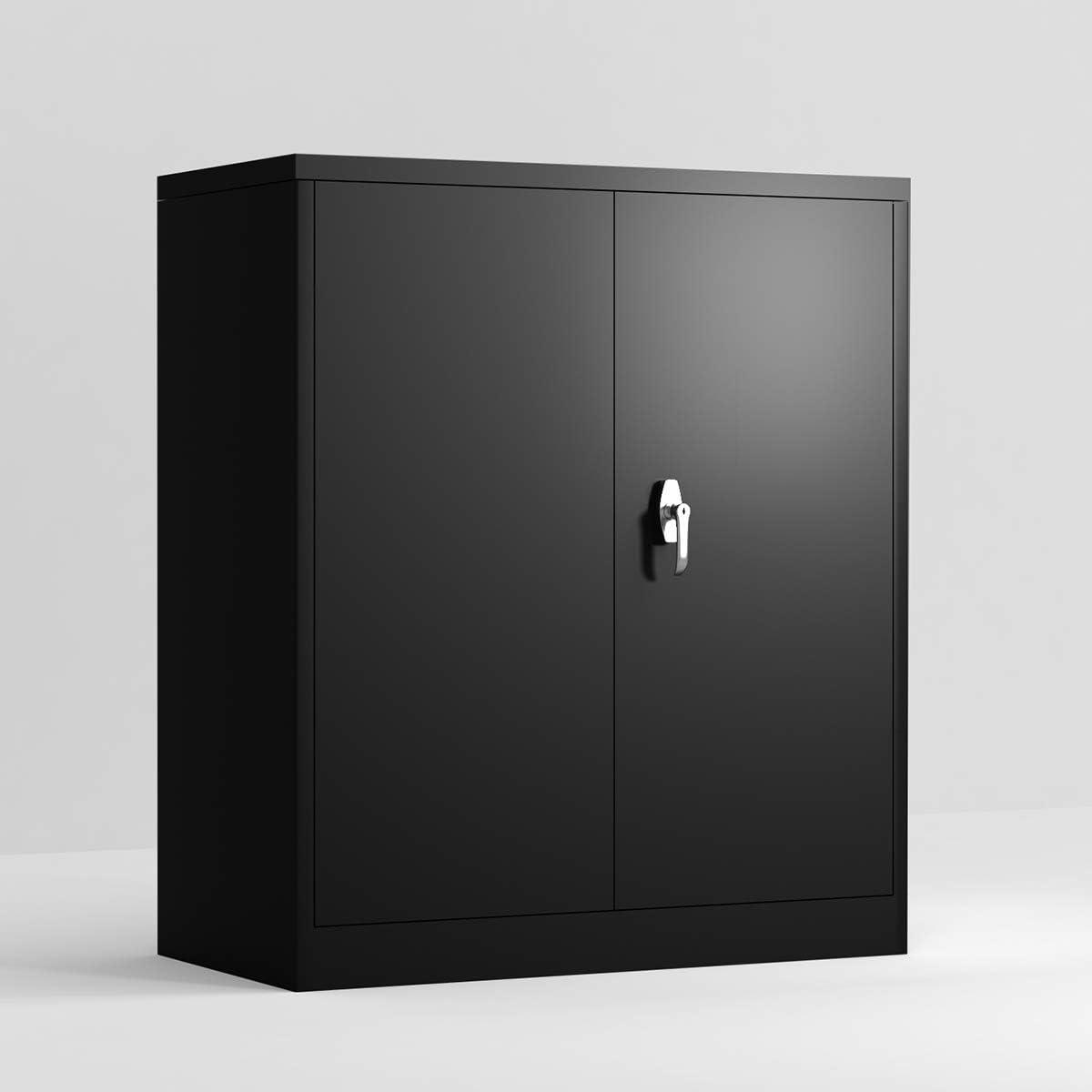 Modern Luxe, Black Metal Storage 41.6