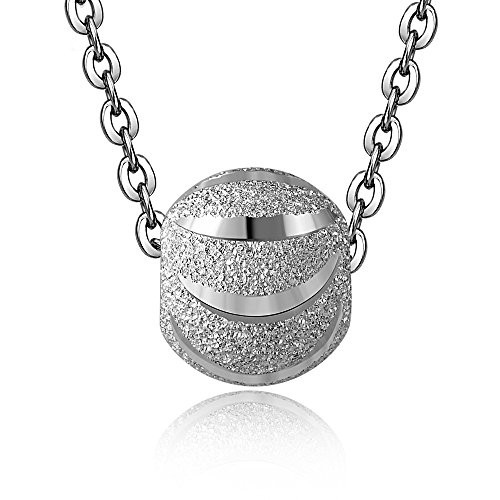 [mis] Round Bead Pendant Necklace Jewelry for Women and Girls