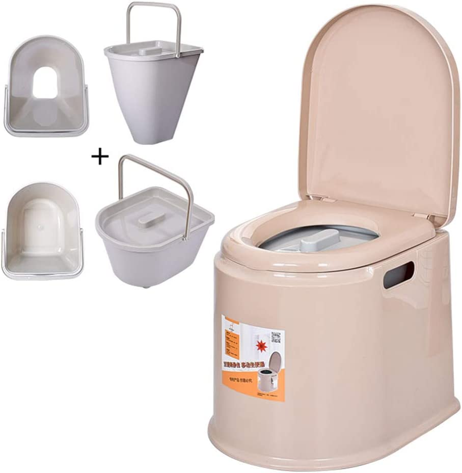 LRXHGOD Blue Outdoor-WC tragbare Toilette zusammenklappbare Mobile Toilette Auto Urinal