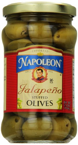 Napoleon Stuffed Olives, Jalapeno, 6.5 Ounce