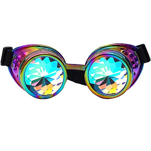 caleidoscopio sol Música de facetadas mosaico Marrón Festival Gafas Gafas Gafas Gafas de de Paseo de de sol facetadaspaseo 1aEvw