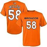 Youth Von Miller Orange Broncos Mainliner Name & Number T-Shirt