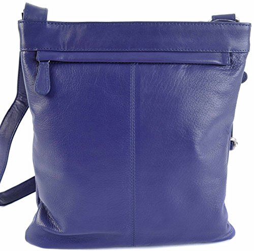 LEATHER COLOURS PRIMEHIDE 9 HANDBAG LARGE SOFT CROSSBODY BAG Purple FAB 985 5RSnq8RHw