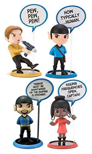 Star Trek Trekkies Action Figure Toy Kirk Mirror Spock Uhura Q-Pop Dry Erase Set