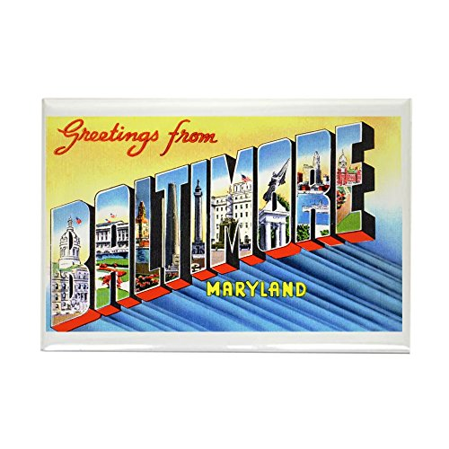 CafePress - Baltimore Maryland Greetings Rectangle Magnet - Rectangle Magnet, 2