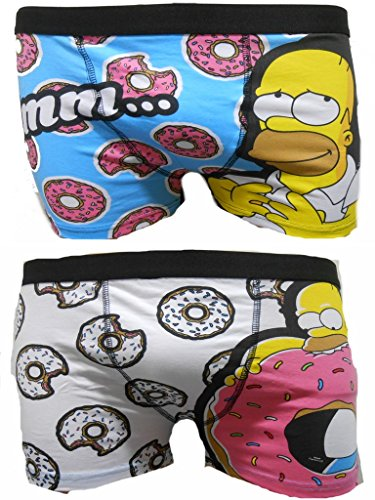 The Simpsons Homer Men's Boxer Trunks Two Pack - S - Homer Underwear