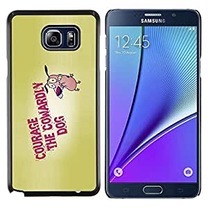 """Be-Star Único Patrón Plástico Duro Fundas Cover Cubre Hard Case Cover Para Samsung Galaxy Note5 / N920 ( Cita Motivación Coraje el perro Valentía Cartoon"""" )"""
