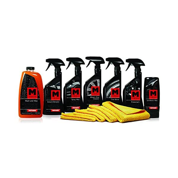Mothers (MP M TECH 1) M Tech Car Care Detailing Kit (11 Piece)