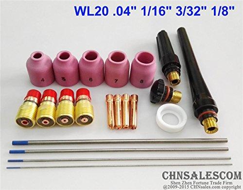 21 pcs TIG Welding Torch Stubby Gas Lens Kit for Tig WP-17/18/26 Series WL20 (Tig Stubby Gas Lens Kit compare prices)