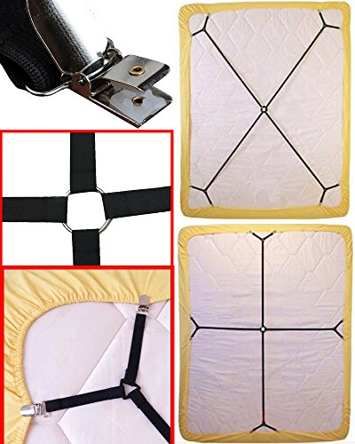 Sheet Bed Suspenders Adjustable Crisscross Fitted Sheet