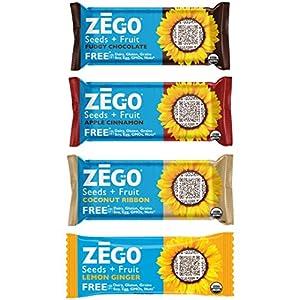 ZEGO Organic Seed & Fruit Sampler Pack (1 bar each flavor)