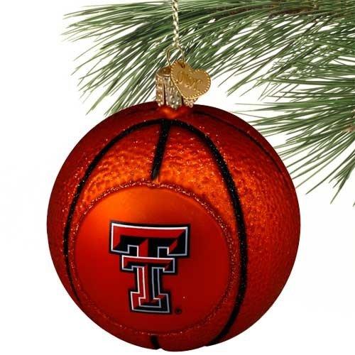NCAA Texas Tech Red Raiders Glass Basketball Ornament