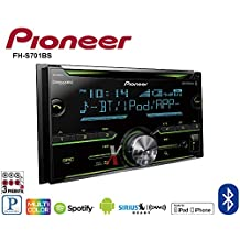 Pioneer FH-S701BS Double DIN CD Receiver with Enhanced Audio Functions, Improved Pioneer ARC App Compatibility, MIXTRAX, Built-in Bluetooth, and SiriusXM-Ready