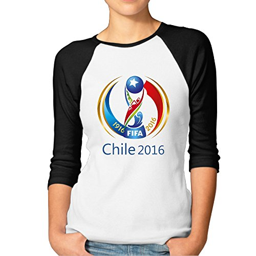 Price comparison product image JAX Women's 3 / 4 Sleeve Chile Copa 2016 Basketball Short Shirts Black M
