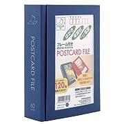 フレーム付きポストカードファイル KGサイズ ブルー
