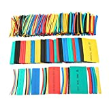 uxcell 410Pcs 2:1 Heat Shrink Tubing Tube Sleeving Wire Cable 5 Color 10 Sizes