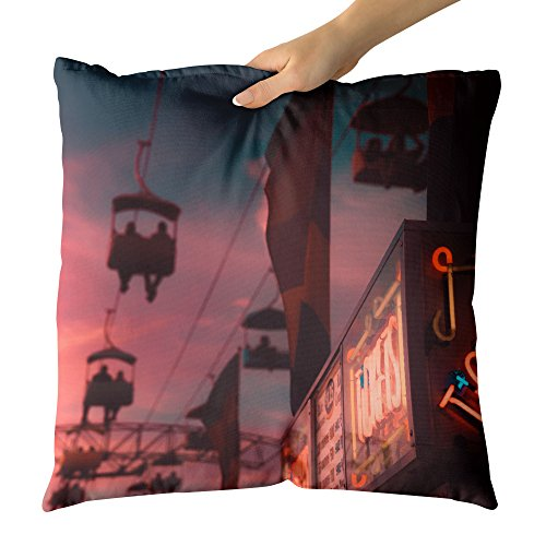 Westlake Art - Street City - Decorative Throw Pillow Cushion - Picture Photography Artwork Home Decor Living Room - 26x26 ()