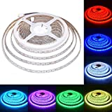LALIGHT 32.8FT RGB LED Flexible Strip Light Only, 5050 10M 600LEDs 24V LED Lights Strip Waterproof Multicolour Changing LED Rope Strip Lighting Outdoor&Indoor Home Decoration, Party, Kitchen, Mirror