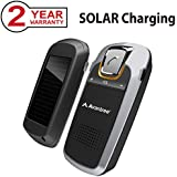 Avantree SOLAR Charging Bluetooth Hands Free Visor Car Kit, for Handsfree Call, GPS, Music, Wireless In-Car Speakerphone, Connect Two Phones [2 Year Warranty]