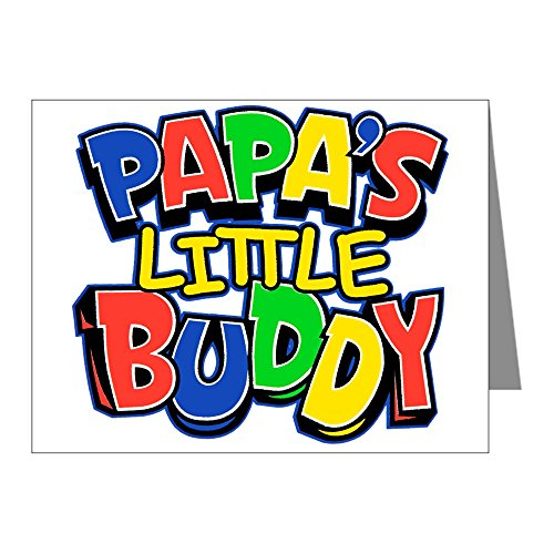 (Greeting Card Papa's Little Buddy Dad Father Son )