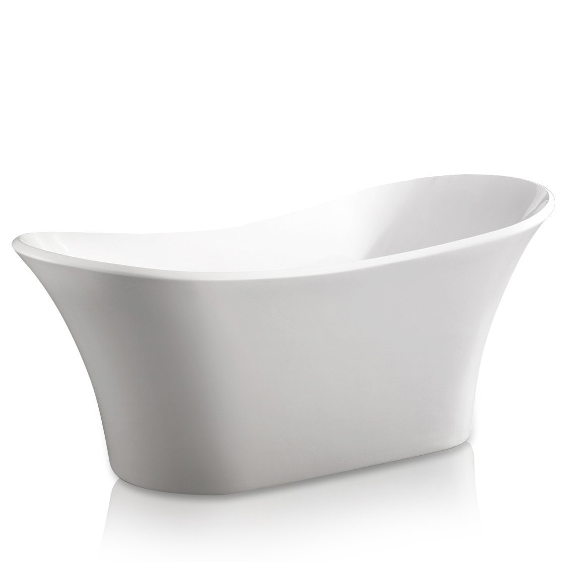 AKDY AZ-F274 Bathroom Freestand Acrylic Bathtub, White Color - Free ...