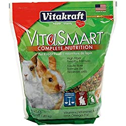 Vitakraft VitaSmart Pet Rabbit Food - High Fiber Timothy Formula, 4 lb.