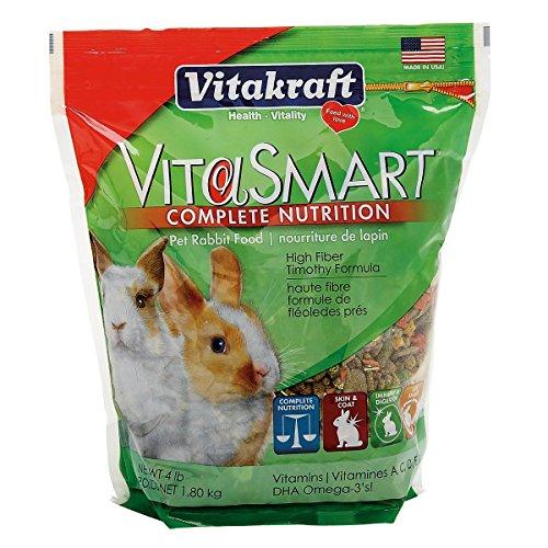 Vitakraft Vitasmart Pet Rabbit Food - High Fiber Timothy Formula, 4 ()