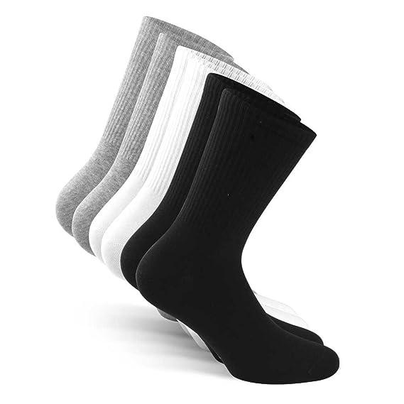 Snocks blanco blancos Tamaño 39-42 39 40 41 42 niños hombre caballeros mujer nino nina chico chica hombres calcetines deportivos running crossfit ...
