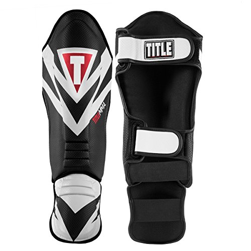 Title Boxing TITLE MMA Command Shin & Instep Guards, Black/White, Large
