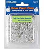 BAZIC Clear Transparent Push Pins