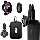 DOFLY Universal Professional HD Camera Lens Kit for iPhone 7 / 6s Plus / 6s / 5s and other devices, Cellphone ( 110° 4K HD Wide Angle Lens& 20x Super Macro Lens) (Black)