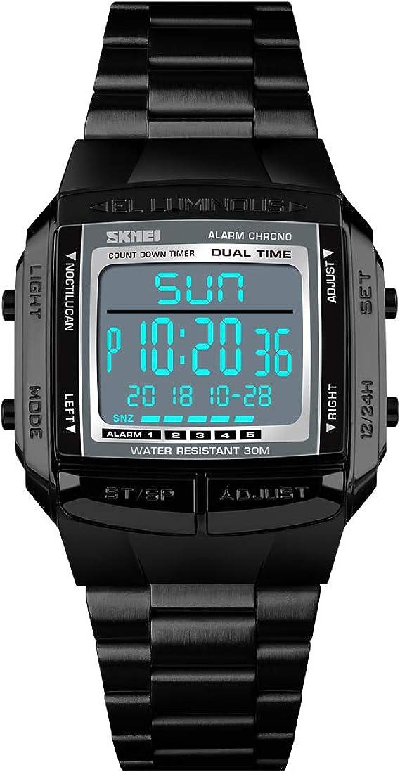TONSHEN Deportivo Reloj Digital LED Electrónica Alarma Cronómetro ...