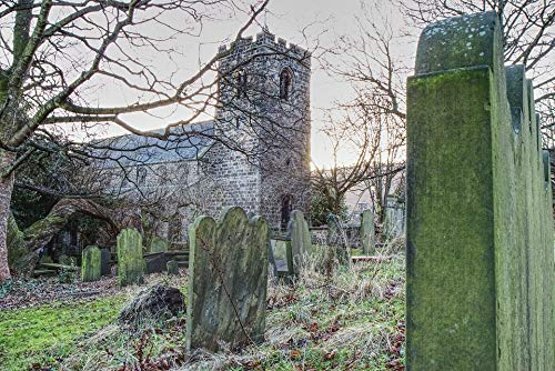 Home Comforts Peel-n-Stick Poster of Graveyard Otley Headstone
