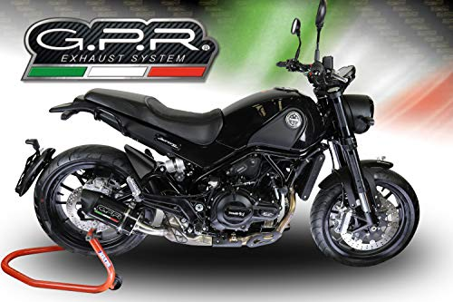 GPR EXHAUST SYSTEMS BE.11.RACE.FCB BENELLI LEONCINO 500 2017 RACING SLIP-ON EXHAUST SYSTEM FURORE CARBONIO OVAL ()